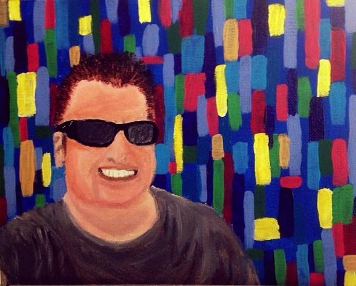 """Rod's Selfie!"" original fine art by Brenda Smith"