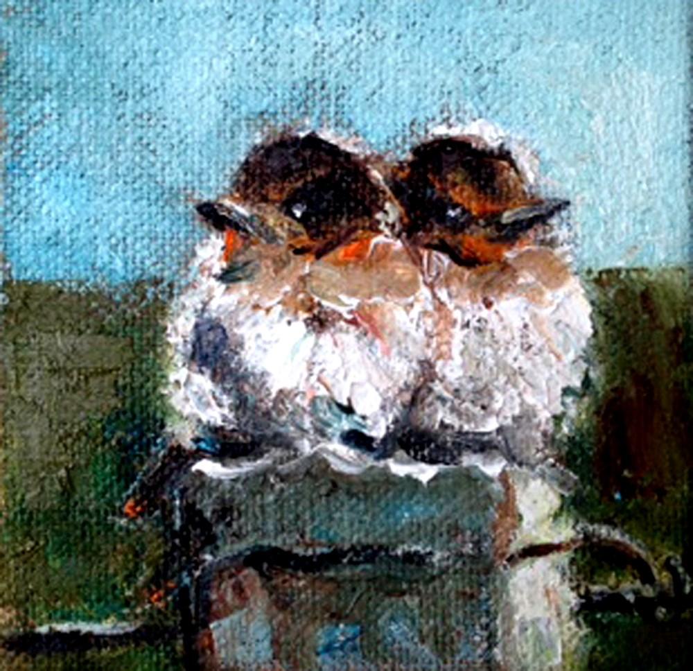 """Besties"" original fine art by Marcia Hodges"