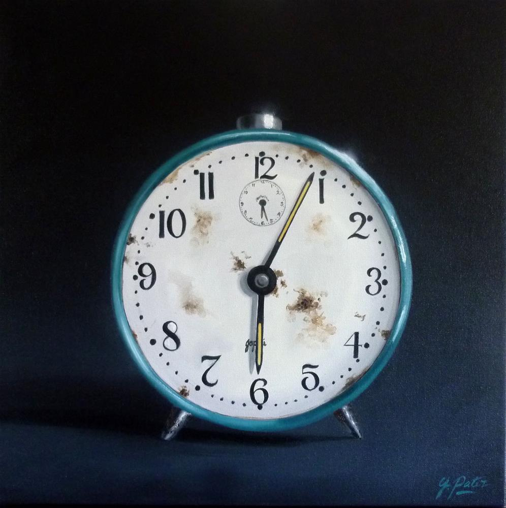 """""""The Clock is Ticking....."""" original fine art by Gina Pater"""