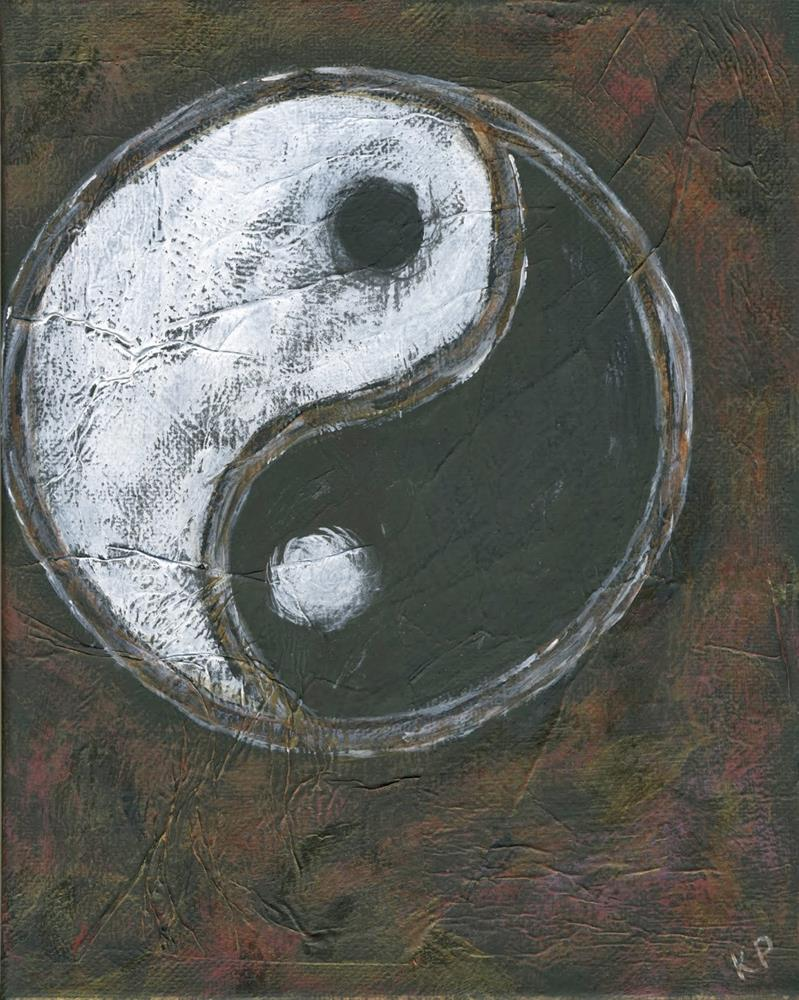 """""""The Yin and the Yang"""" original fine art by Kali Parsons"""