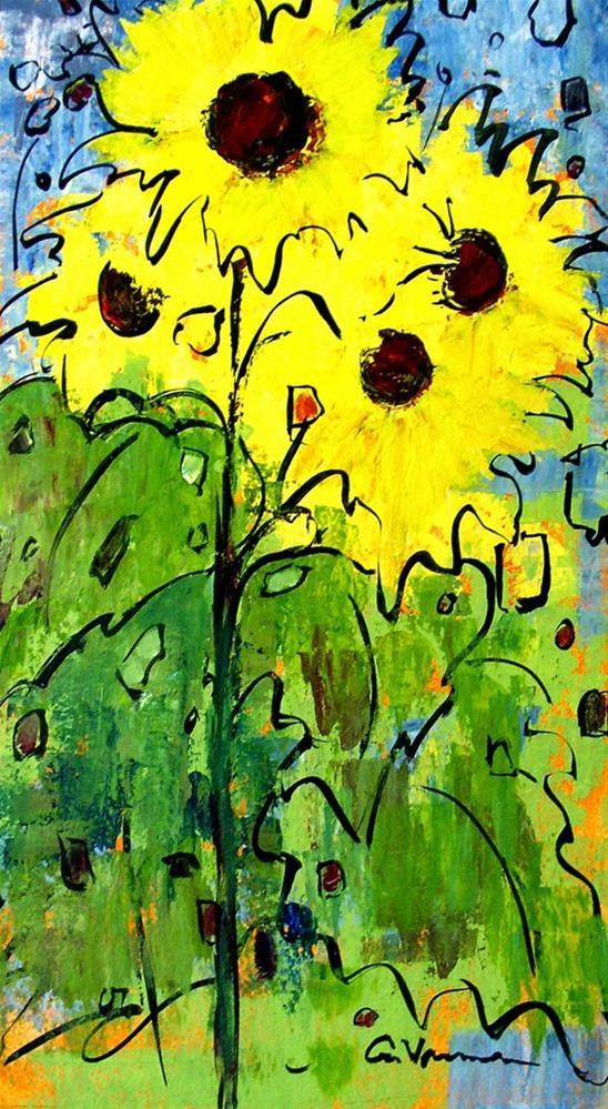 """""""Sunflower #5"""" original fine art by Anna Vreman"""