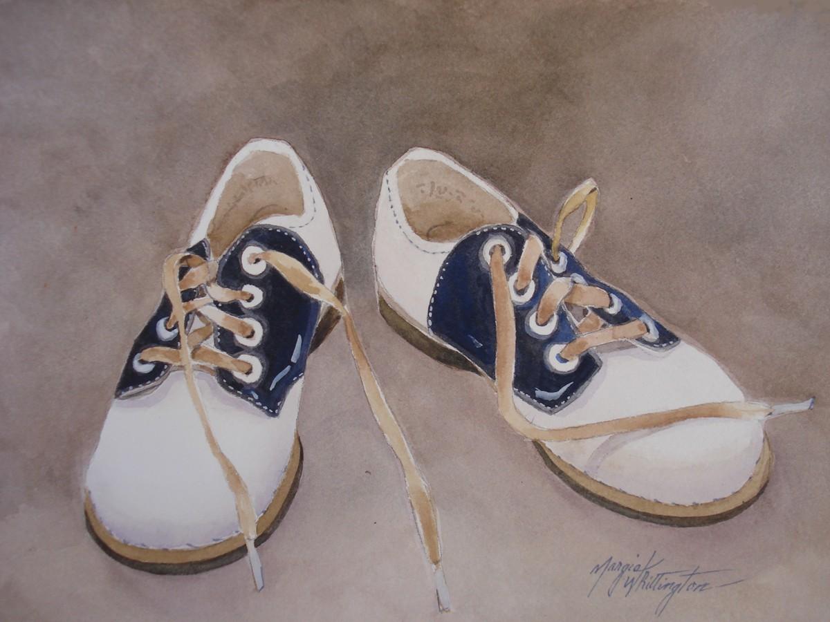 """Austin's Oxfords"" original fine art by Margie Whittington"