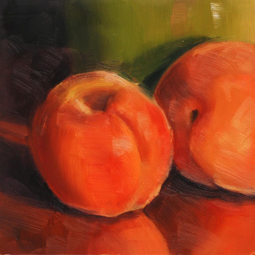 """""""Apricots"""" original fine art by Susan McManamen"""