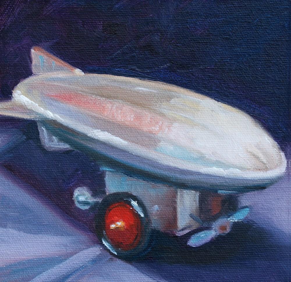 """""""Tin Zeppelin"""" original fine art by Karen Bird"""