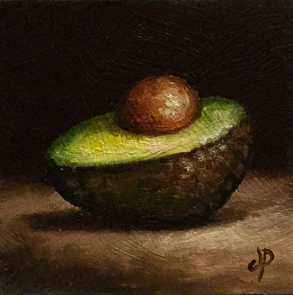 """Little Avocado half"" original fine art by Jane Palmer"