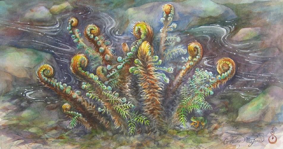 """Rite of Spring"" original fine art by Catherine M. James"