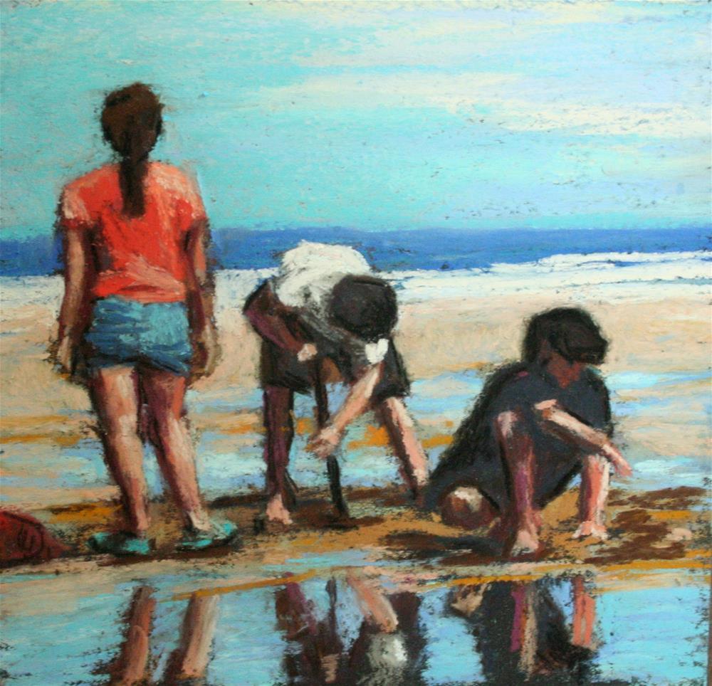 """""""Low Tide Delight"""" original fine art by Janet Zabilski"""