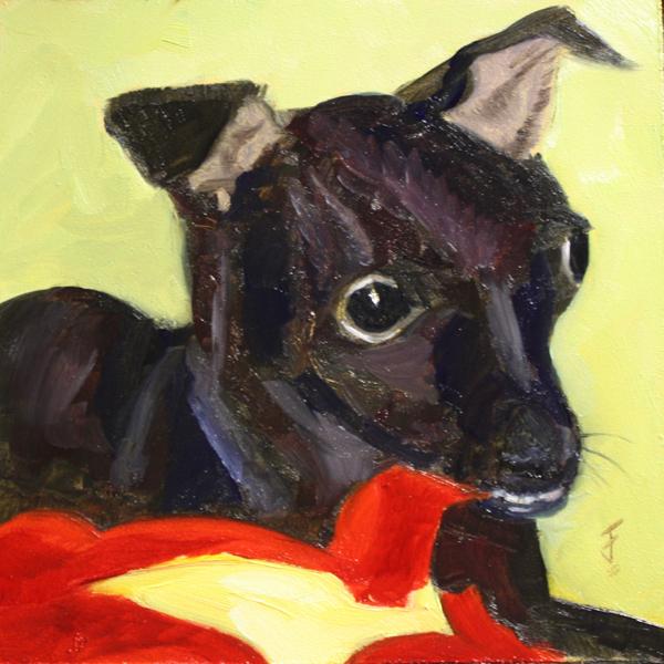"""""""Puppy Love"""" original fine art by Jane Frederick"""