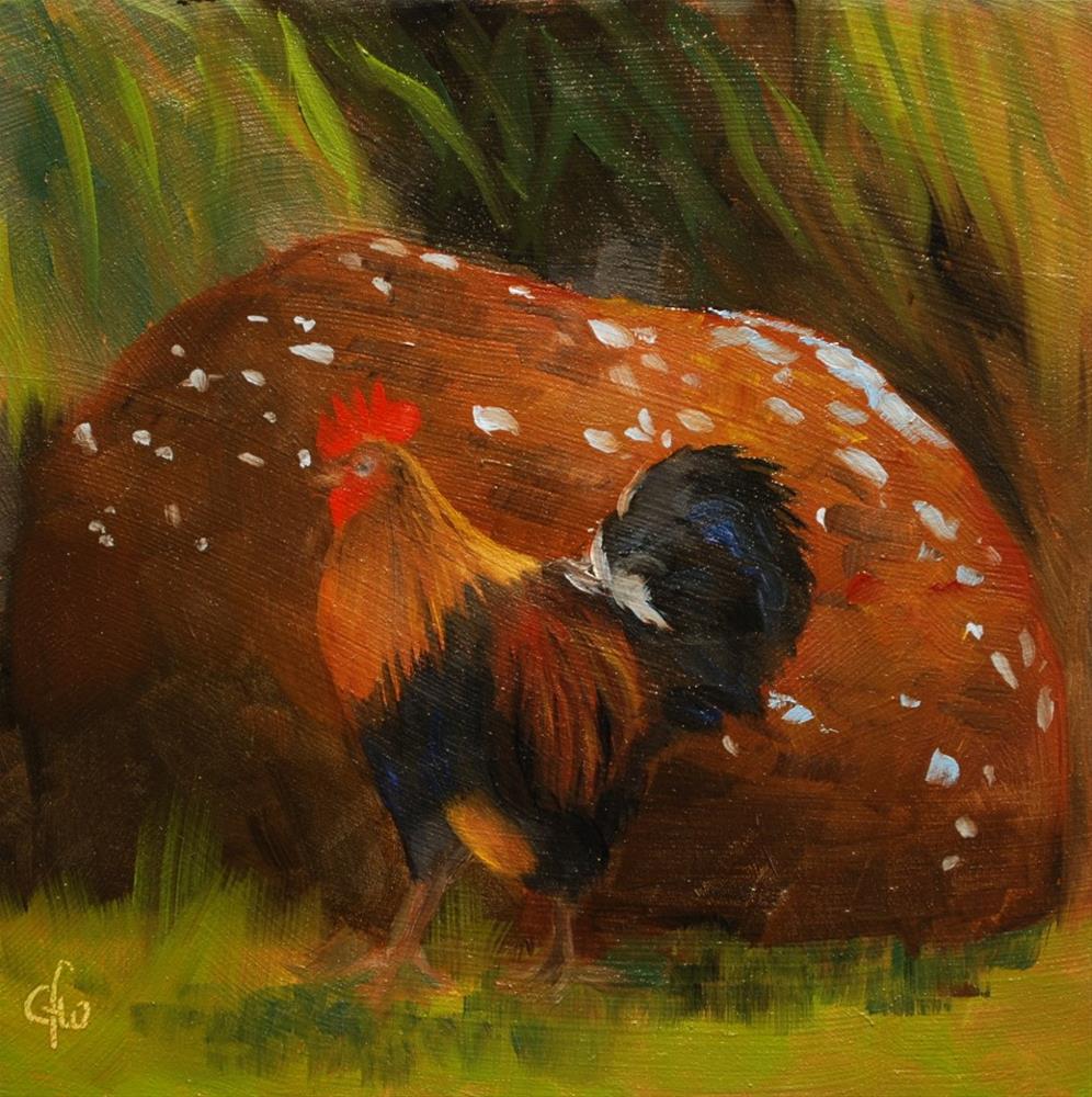 """""""Feral Chicken"""" original fine art by Gary Westlake"""