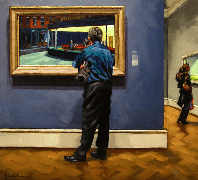 """Thursday Nighthawks"" original fine art by Karin Jurick"
