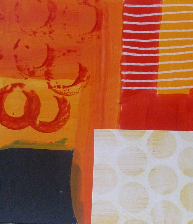 """COLLAGE No. 19"" original fine art by Linda Popple"