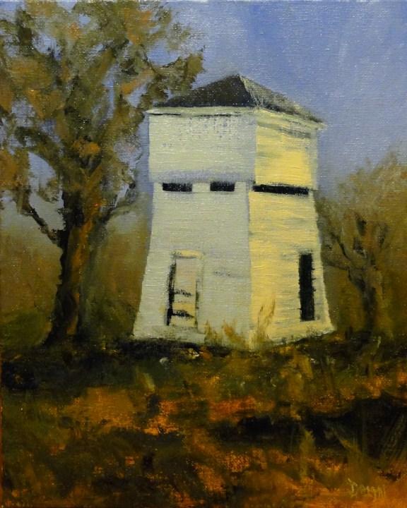 """Farm Stucture CA Plein Air"" original fine art by Dalan Wells"