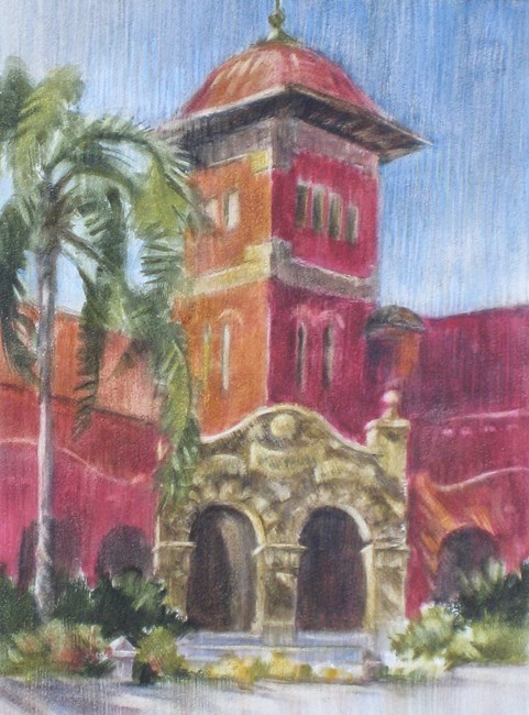 """""""Entrance to the Library"""" original fine art by Ginger Pena"""