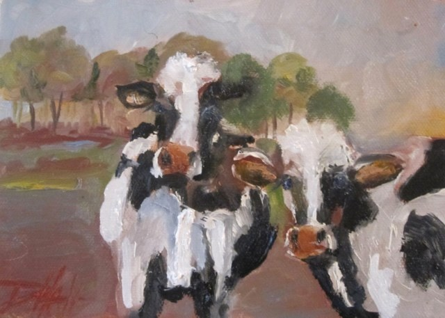 """Cow Power"" original fine art by Delilah Smith"