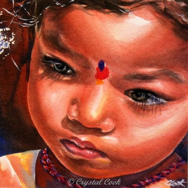 """Tenderness"" original fine art by Crystal Cook"