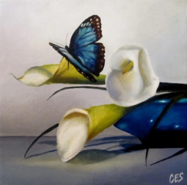 """Something Blue"" original fine art by ~ces~ Christine E. S. Code"