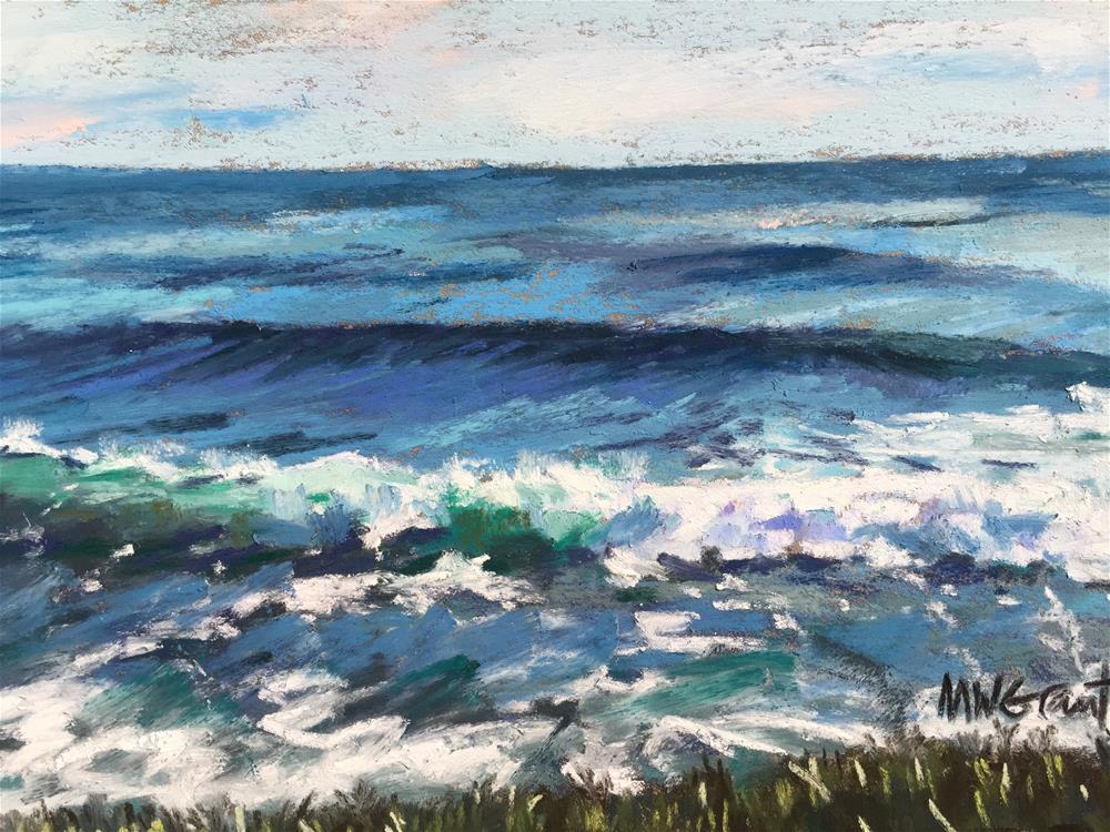"""Iceplant shore"" original fine art by Michelle Wells Grant"