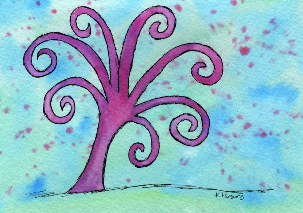 """""""Pink and Curly"""" original fine art by Kali Parsons"""
