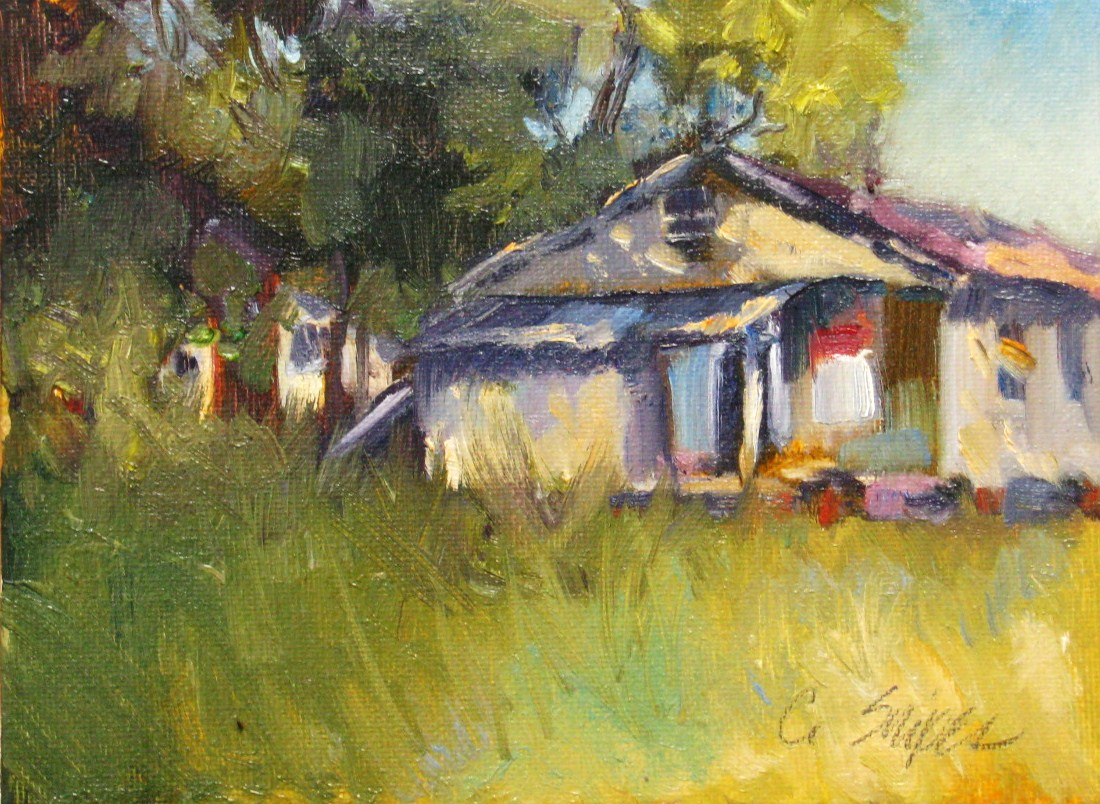 """The General Store"" original fine art by Connie Snipes"