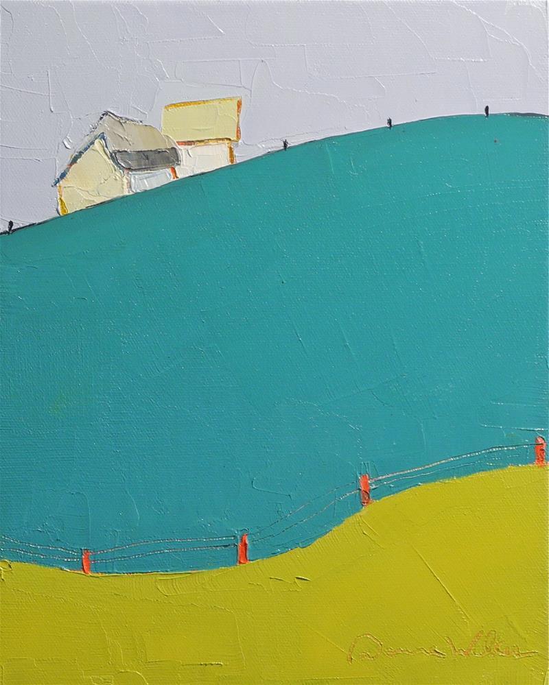 """Rolling Along"" original fine art by Donna Walker"
