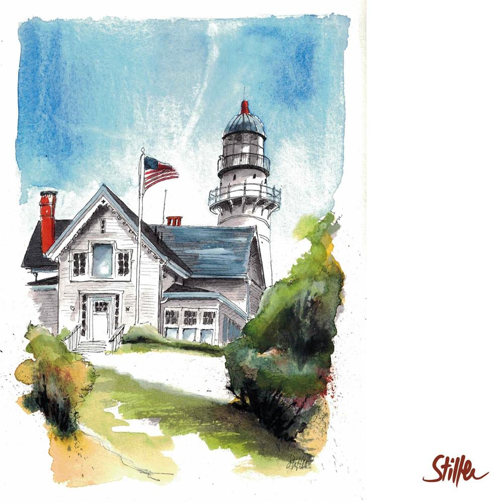 """3433 Bushy Lighthouse"" original fine art by Dietmar Stiller"