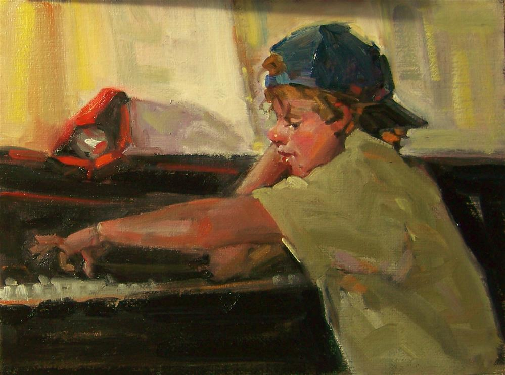 """The Practice"" original fine art by Kim Roberti"