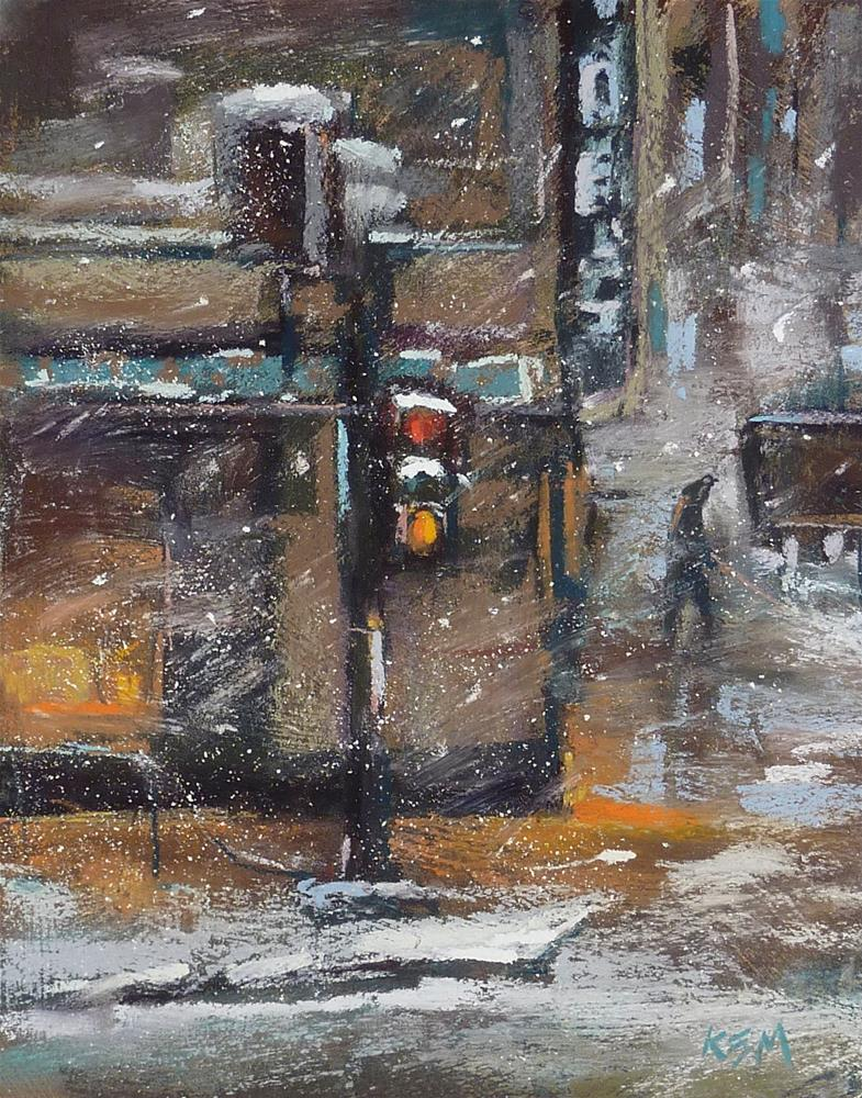 """""""A Tip for Working on a Textured Surface with Pastels"""" original fine art by Karen Margulis"""