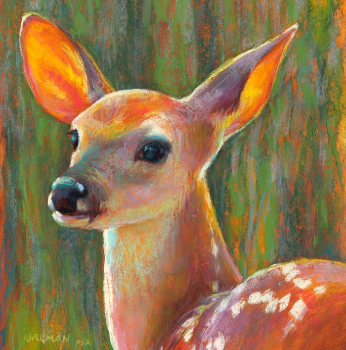 """Listening - day 29"" original fine art by Rita Kirkman"