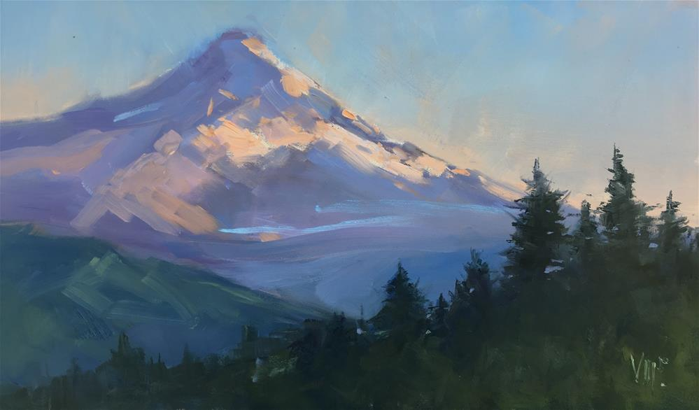 """Mount Hood"" original fine art by Patty Voje"