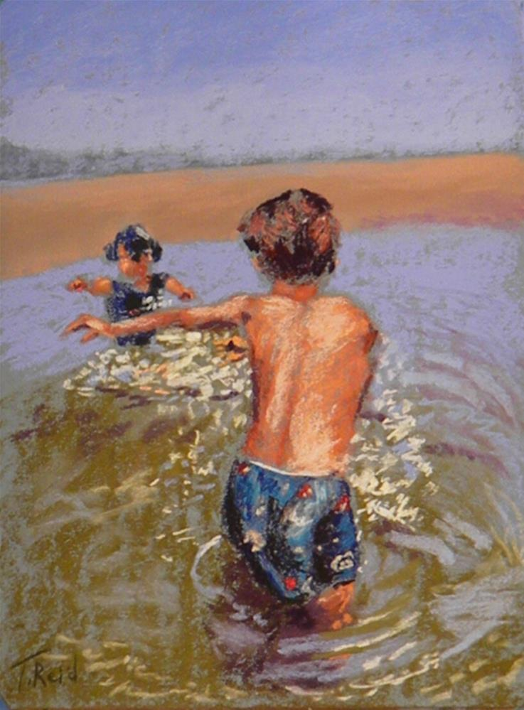 """Water play"" original fine art by Toby Reid"