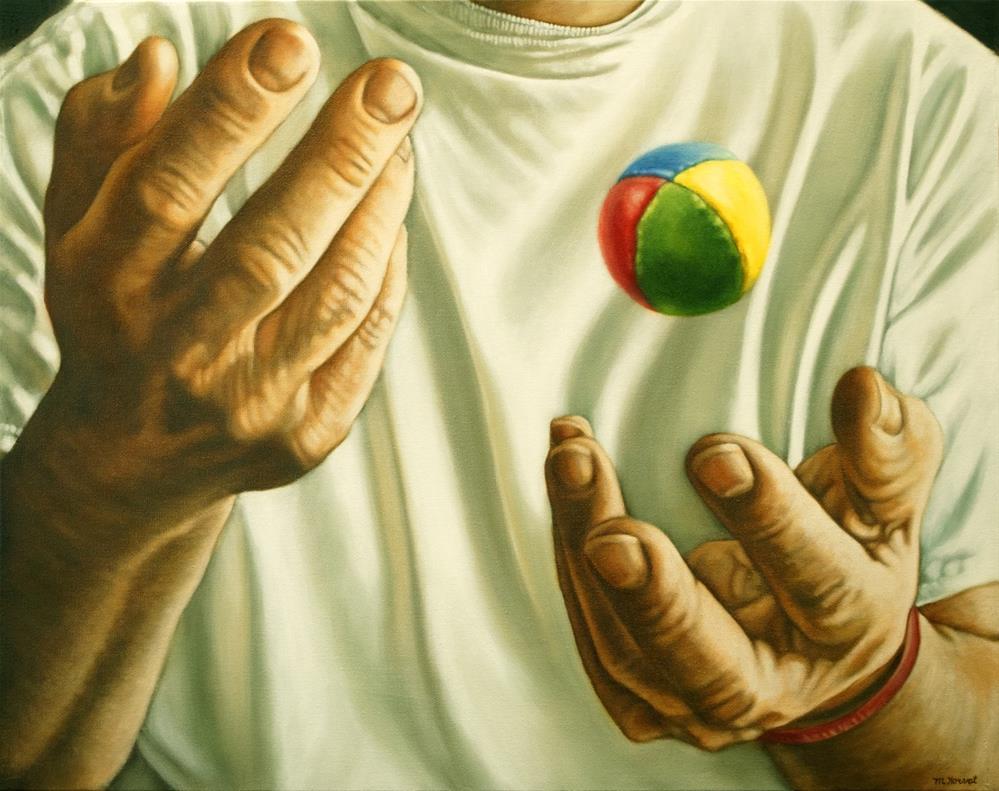 """""""The Juggler"""" original fine art by Margaret Horvat"""