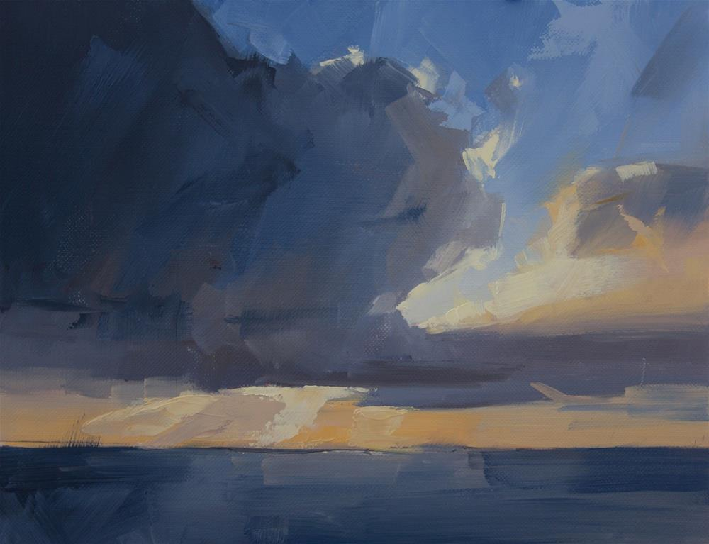 """""""South clouds in November"""" original fine art by Thorgrimur Andri Einarsson"""