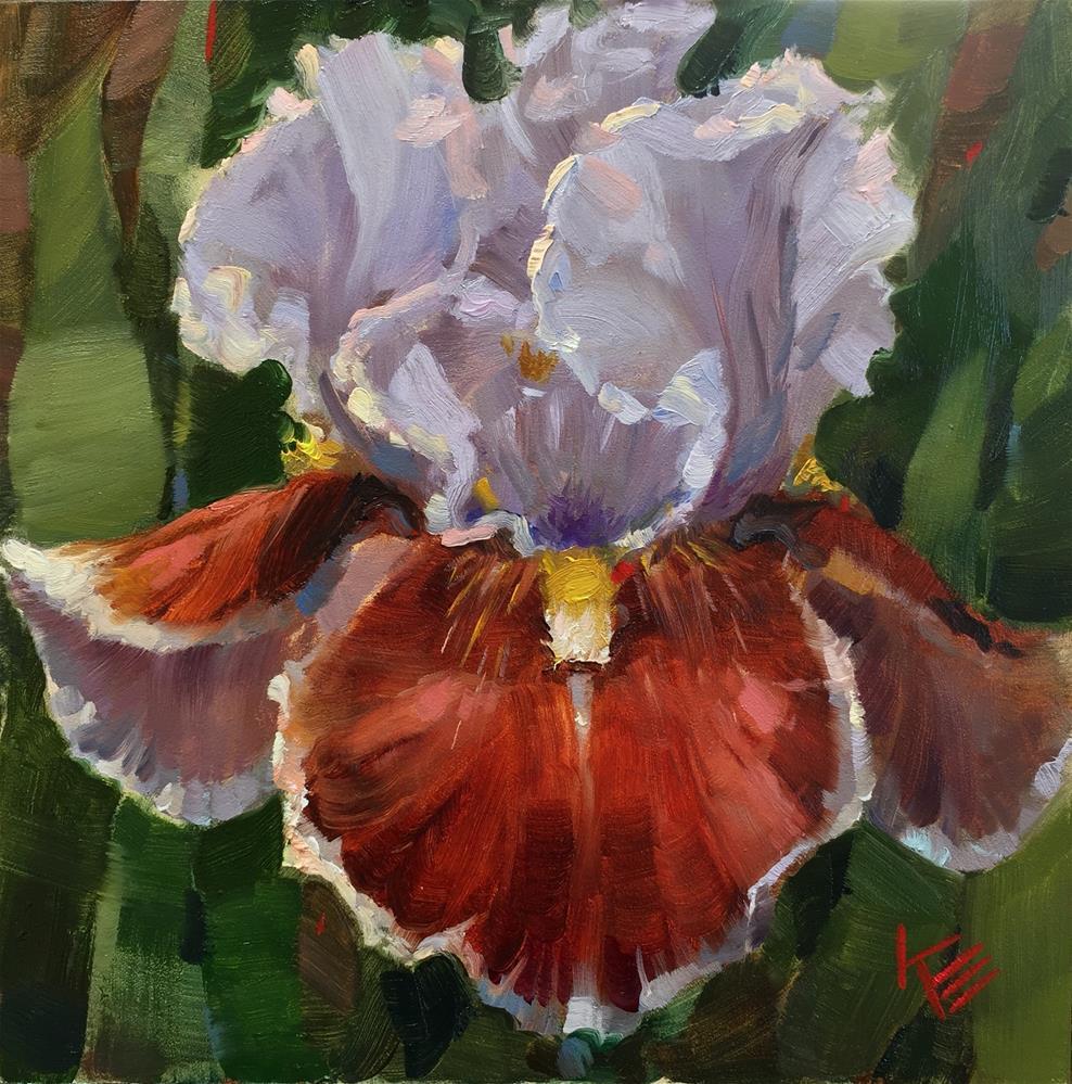 """Man's Best Friend : Tall Bearded Iris"" original fine art by Krista Eaton"