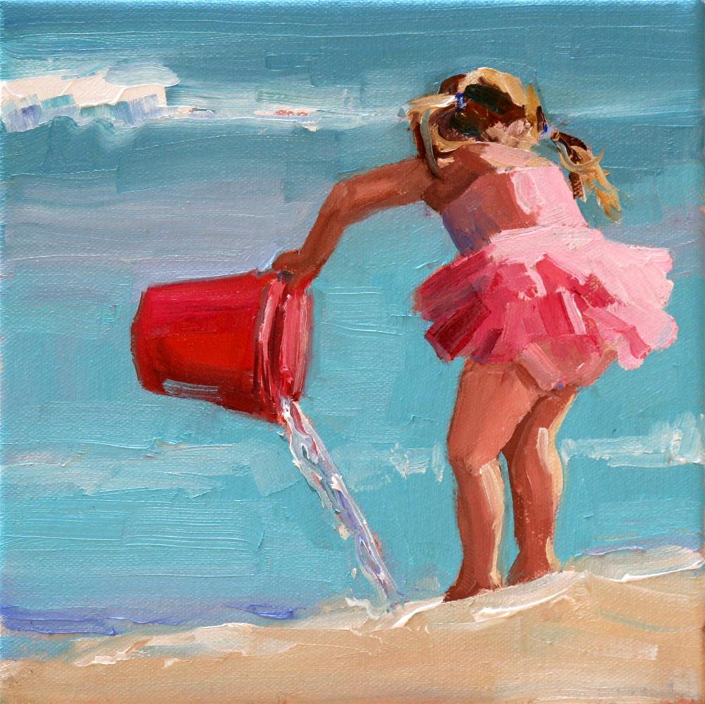 """sunlit tutu"" original fine art by Carol Carmichael"
