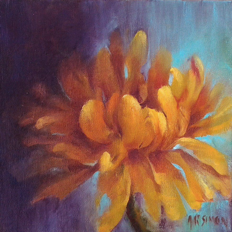 """Chrysanthemum"" original fine art by A.K. Simon"
