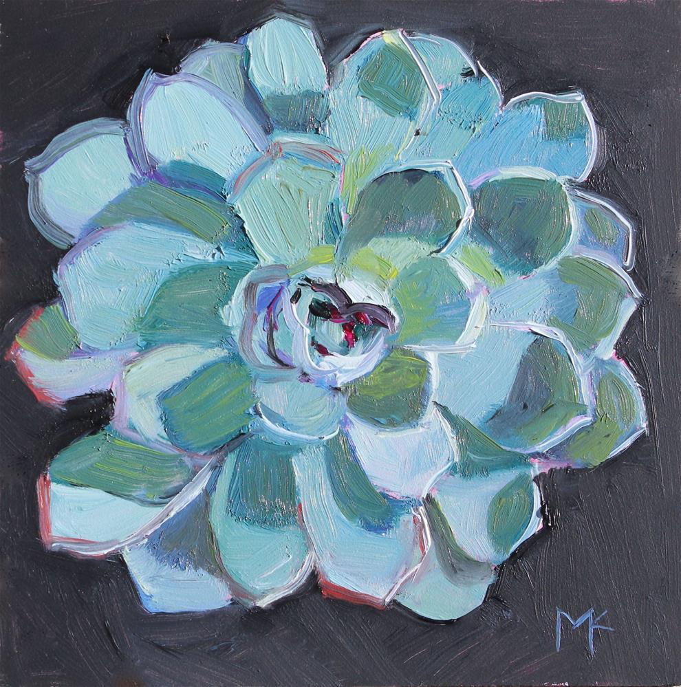 """""""Succulent- Echeveria"""" original fine art by Susan McCullough"""