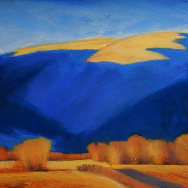 """""""Backdrop"""" original fine art by Carolyn Caldwell"""
