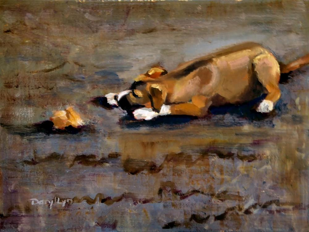 """P-396 Sammy's Bone"" original fine art by Daryl Lyn King"
