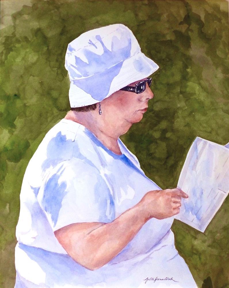 """Aunt Maude at Tanglewood"" original fine art by Judith Freeman Clark"