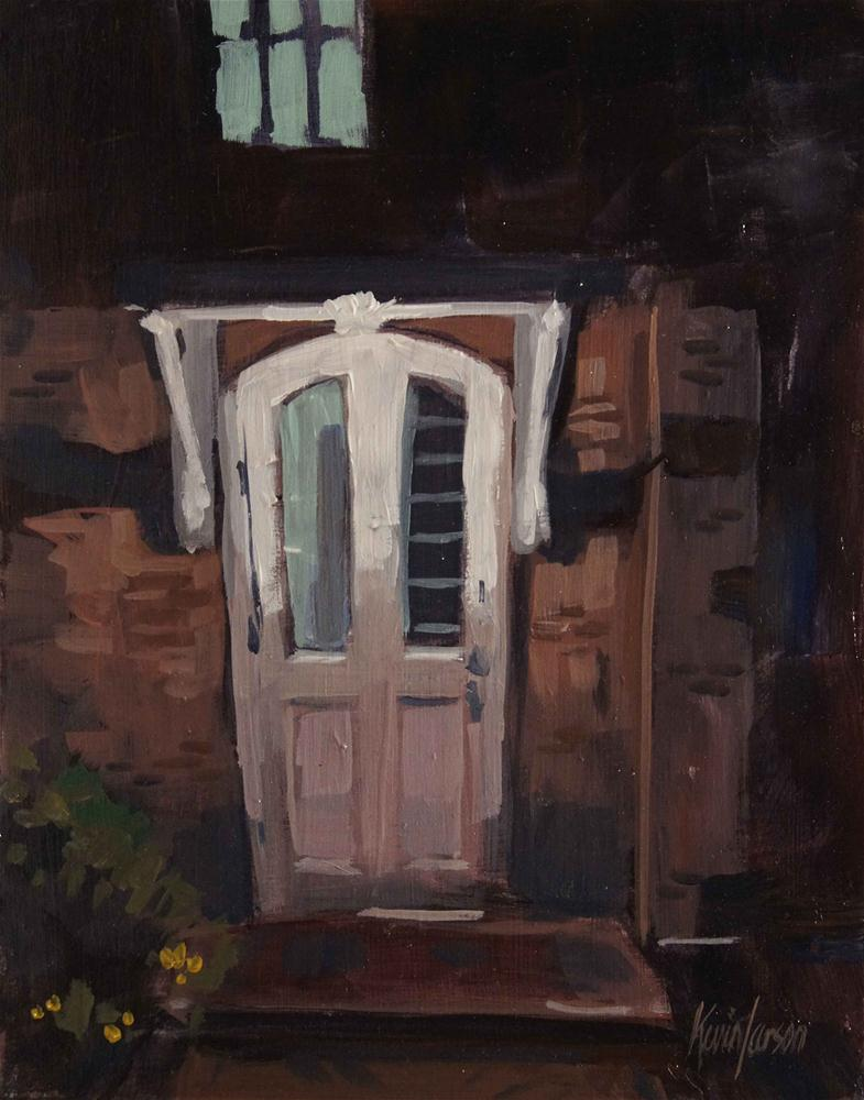 """Back Door"" original fine art by Kevin Larson"