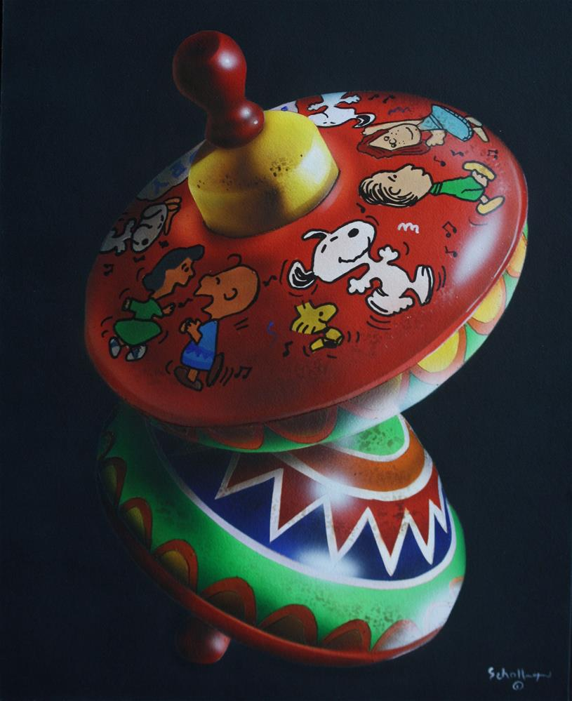 """Snoopy Top in Shadows"" original fine art by Fred Schollmeyer"