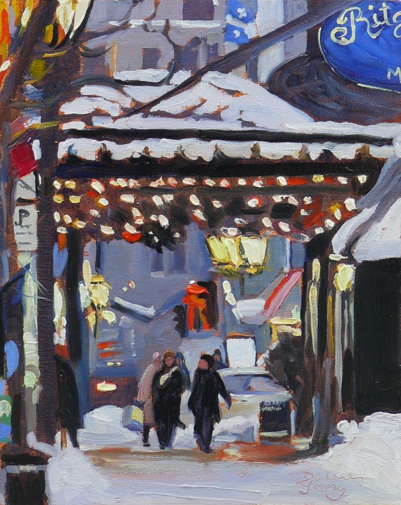 """""""574 Montreal the Ritz"""" original fine art by Darlene Young"""
