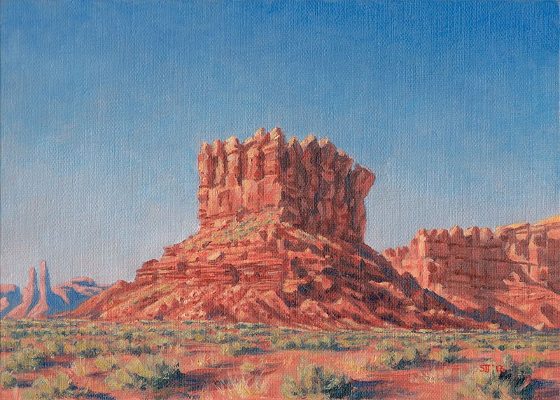 """C1498 Afternoon Light on the Keep"" original fine art by Steven Thor Johanneson"