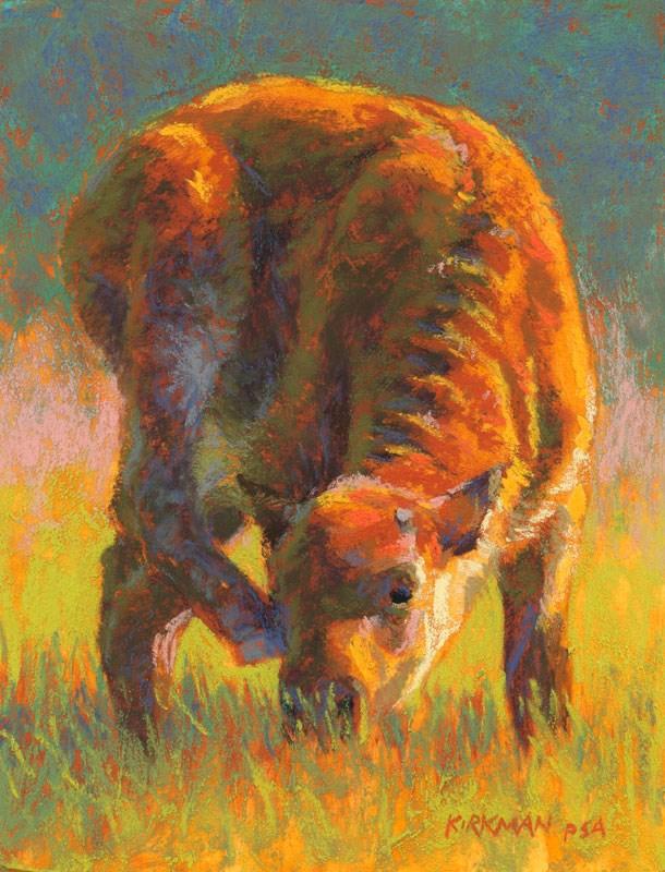 """Bison Calf"" original fine art by Rita Kirkman"
