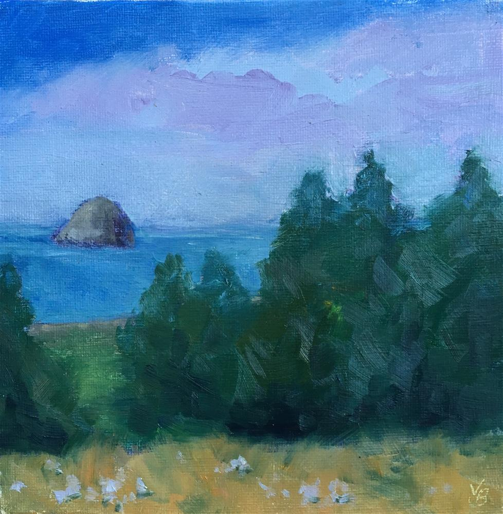 """Haystack Rock"" original fine art by Victoria  Biedron"