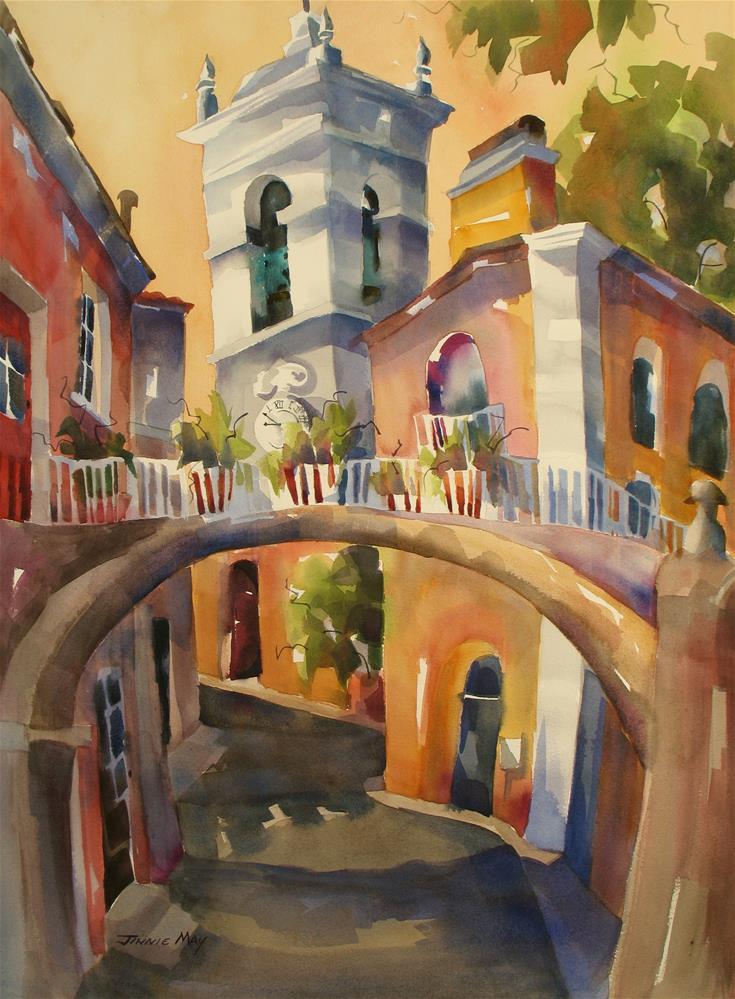 """Clock Tower , Sintra"" original fine art by Jinnie May"
