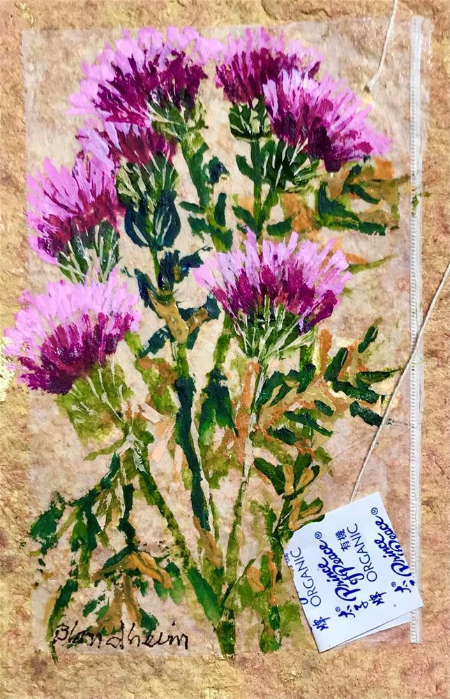 """""""Thistles"""" original fine art by Linda Blondheim"""