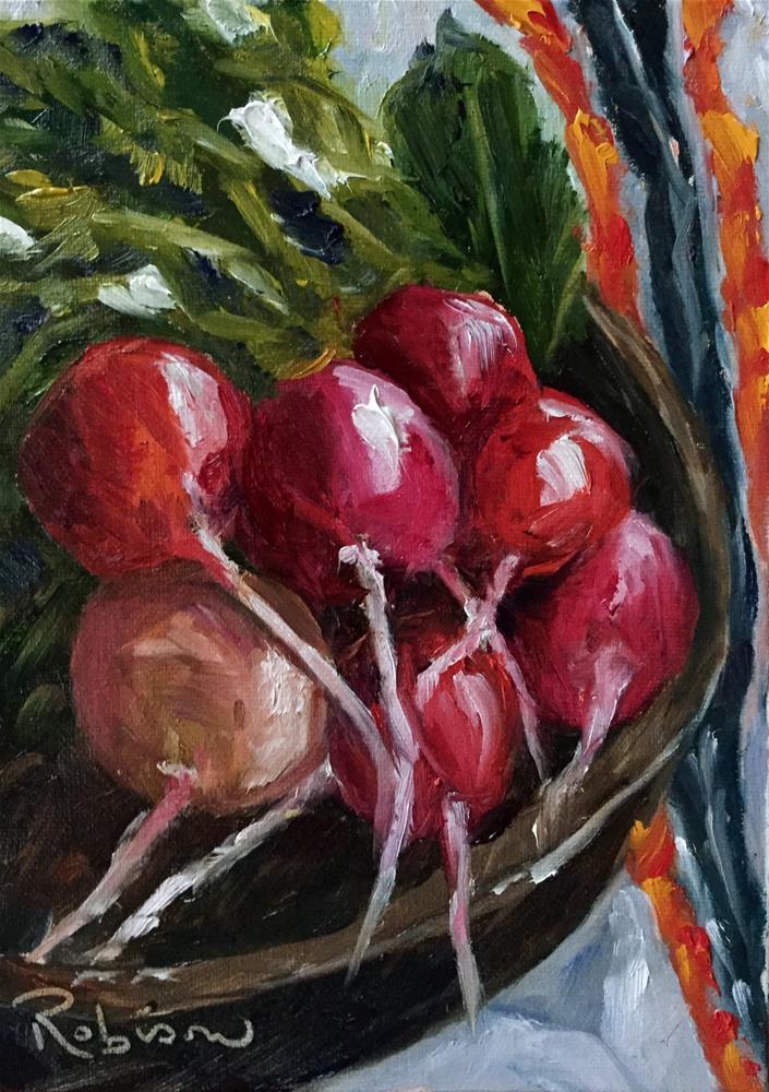 """Red Bowl of Crunch"" original fine art by Renee Robison"