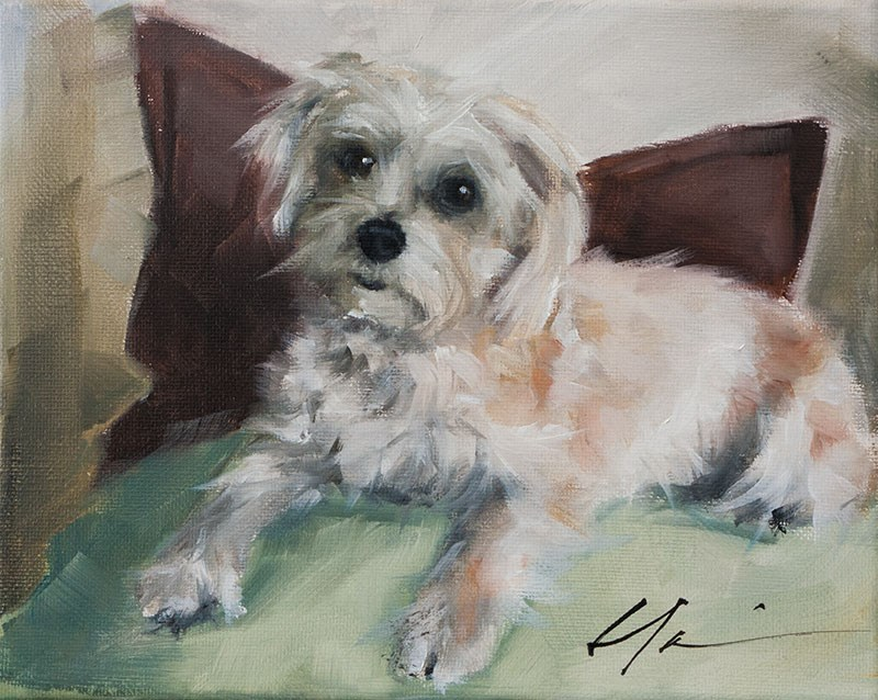 """PAINT MY DOG - Daisy"" original fine art by Clair Hartmann"