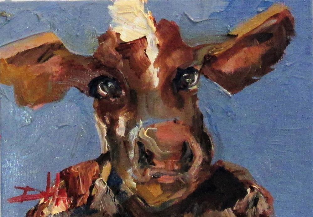 """Cow No. 5"" original fine art by Delilah Smith"